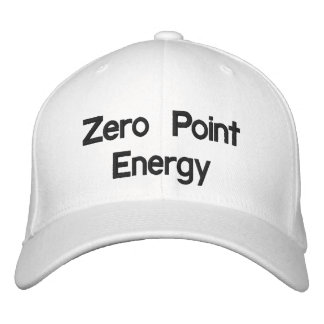 Produit au zéro absolu de promo d'énergie casquette brodée