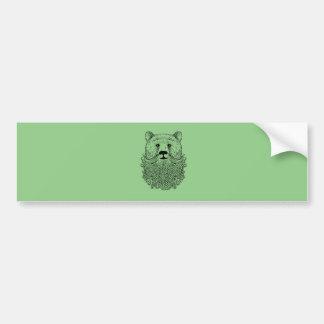 Produit barbu d'ours autocollant pour voiture