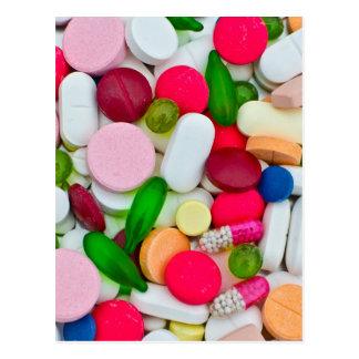 Produit coloré de coutume de pilules cartes postales
