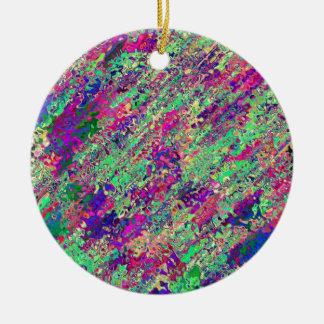 Produit de la collection éclat de couleur ornement rond en céramique