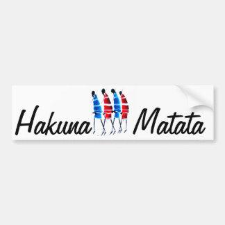 Produit de personnaliser de Maasai Worriors Hakuna Autocollant Pour Voiture