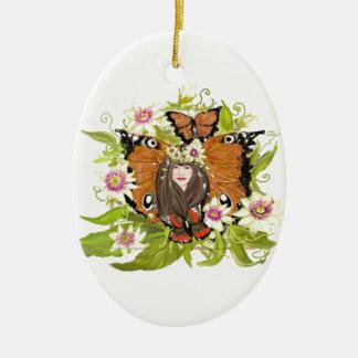 Produits de conception magique de papillon divers ornement ovale en céramique