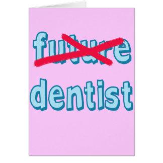 Produits de diplômé d'école dentaire carte de vœux