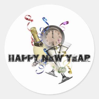 Produits de nouvelle année sticker rond
