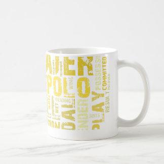 Produits de nuage de mot de polo d'eau mug