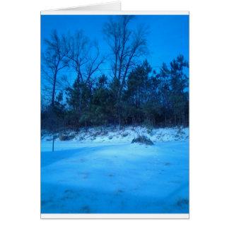 Produits de scène d'hiver cartes