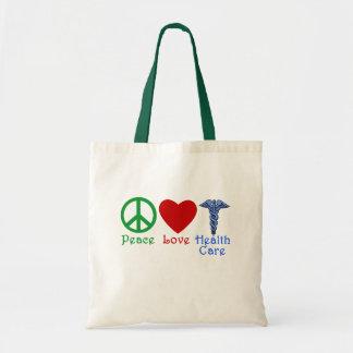 Produits de soins de santé d'amour de paix sac fourre-tout