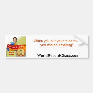 produits de WorldRecordChase.com Autocollant Pour Voiture