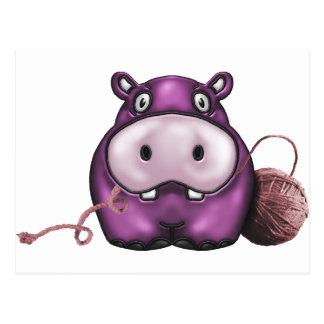 produits d'hippopotame carte postale