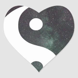 """""""Produits d'impression de galaxie d'étoiles du Sticker Cœur"""
