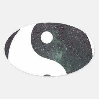 """""""Produits d'impression de galaxie d'étoiles du Sticker Ovale"""