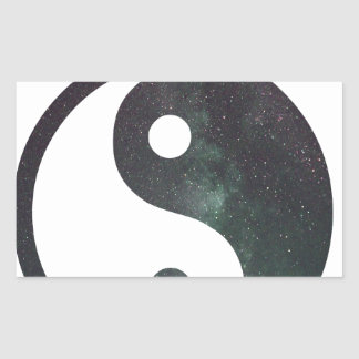 """""""Produits d'impression de galaxie d'étoiles du Sticker Rectangulaire"""