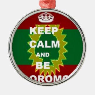 Produits d'Oromo Ornement Rond Argenté