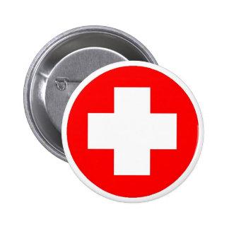 Produits et conceptions de Croix-Rouge ! Badge Rond 5 Cm