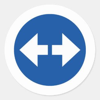 Produits et conceptions de flèches de signe ! sticker rond