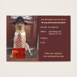 Produits et services d'animal familier cartes de visite