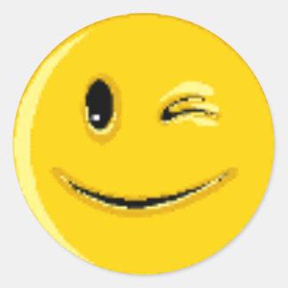 Produits multiples de visage souriant autocollant rond