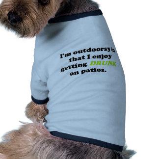 Produits potables extérieurs drôles tee-shirts pour animaux domestiques