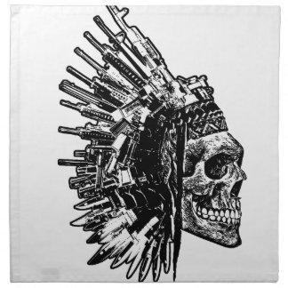 Produits tribaux de crâne, d'armes à feu et de serviette