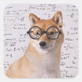 Professeur Barkley Square Sticker (brillant) Sticker Carré