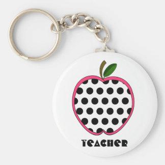 Professeur d'Apple de point de polka Porte-clés