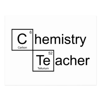 Professeur de chimie carte postale