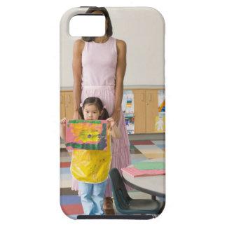 Professeur de crèche par la fille (3-5) avec la coque Case-Mate iPhone 5