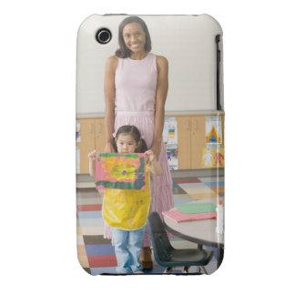 Professeur de crèche par la fille (3-5) avec la coque iPhone 3 Case-Mate