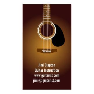 Professeur de guitare carte de visite standard