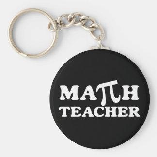 Professeur de maths pi porte-clé rond