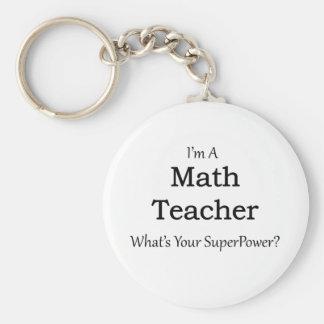 Professeur de maths porte-clé rond
