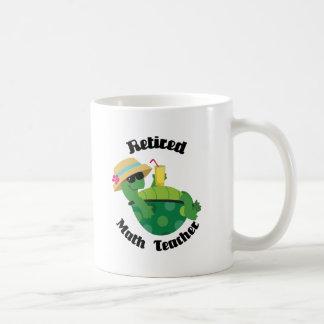 Professeur de maths retraité (tortue) mug