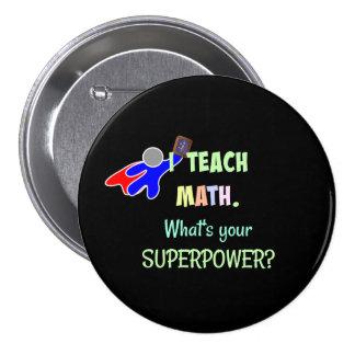 Professeur de maths, super héros badge