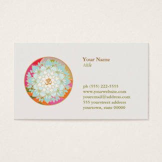 Professeur de méditation de yoga de symbole d'OM Cartes De Visite