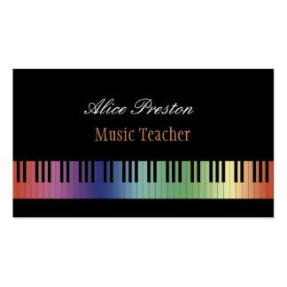 Professeur de musique | coloré carte de visite standard