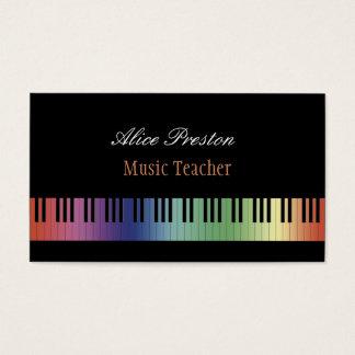 Professeur de musique | coloré cartes de visite