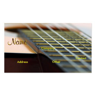 Professeur de musique de guitare carte de visite standard