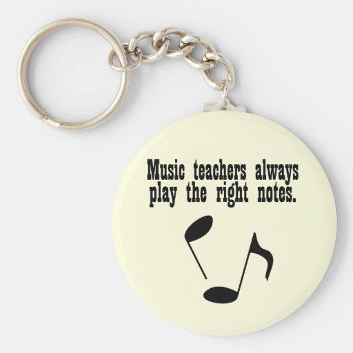 Professeur de musique porte-clés