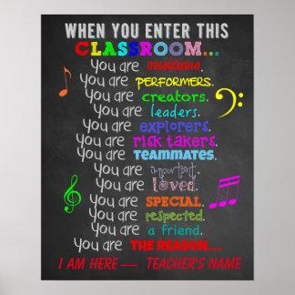 Professeur de musique - quand vous écrivez des poster