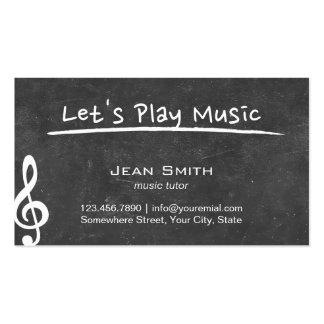 Professeur de musique simple de tableau carte de visite standard