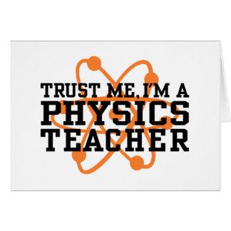 Professeur de physique carte de vœux