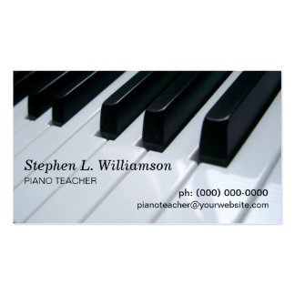 Professeur de piano modèle de carte de visite