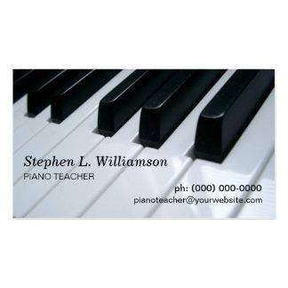 Professeur de piano carte de visite standard