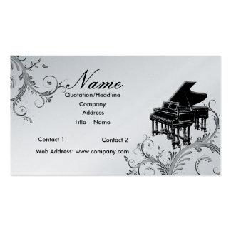Professeur de piano ou piano à queue de ventes carte de visite standard