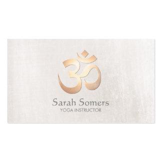 Professeur de yoga et de méditation de symbole de carte de visite standard