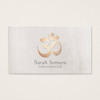Professeur de yoga et de méditation de symbole de cartes de visite