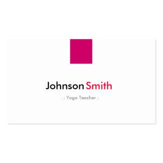 Professeur de yoga - rose rose simple carte de visite standard