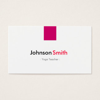 Professeur de yoga - rose rose simple cartes de visite