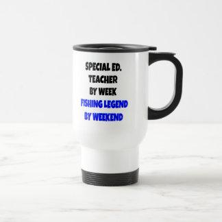 Professeur d'éducation spéciale de légende de mug de voyage