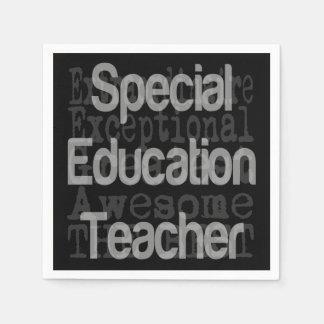 Professeur d'éducation spéciale Extraordinaire Serviettes Jetables